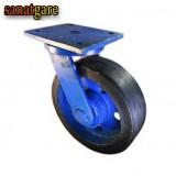 چرخ های چدنی سنگین لاستیکی روتراش سایز 20 گردان